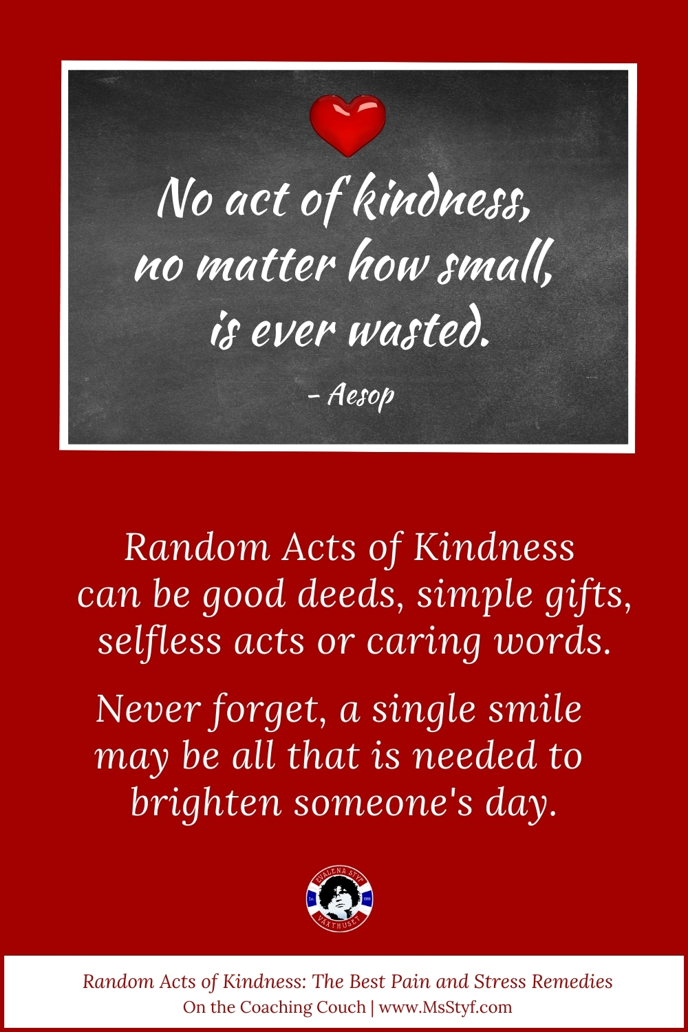Random Acts of Kindness the best pain and stress relief